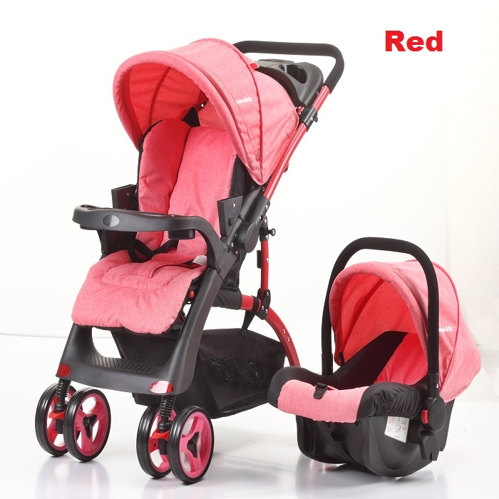 Travel System Two Way Stroller with Infant Car Seat