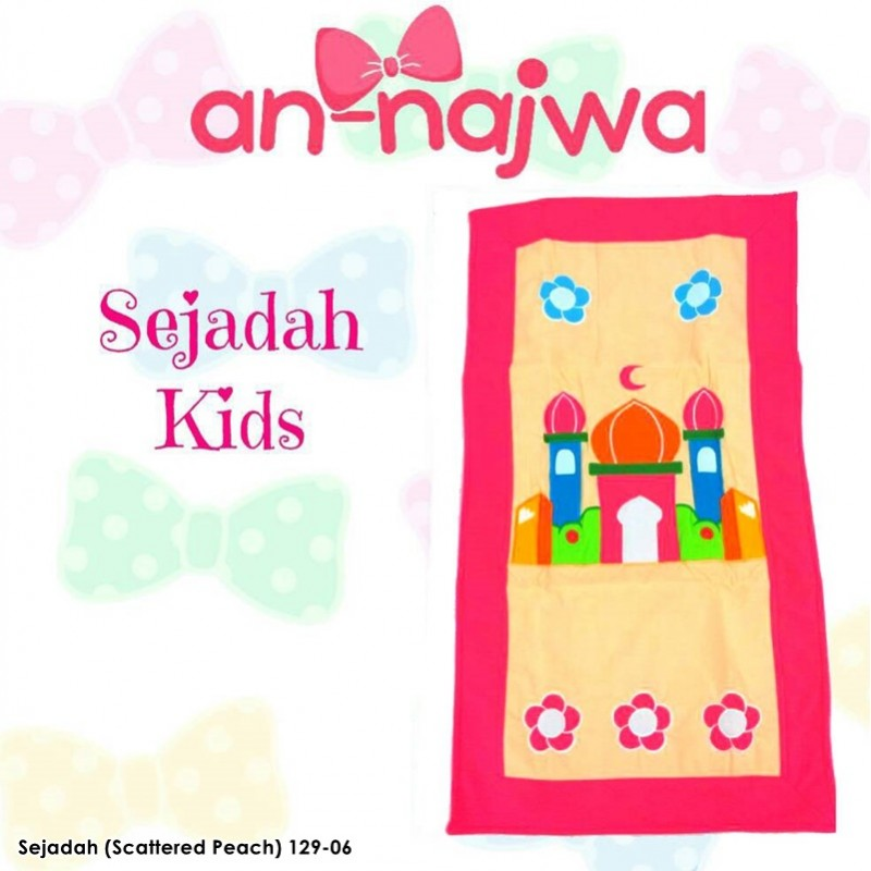 Sejadah Kids Scattered Peach
