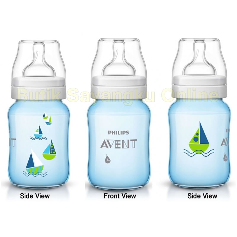 Philips Avent Special Edition Classic Plus Bottle Blue Deco Sailboat