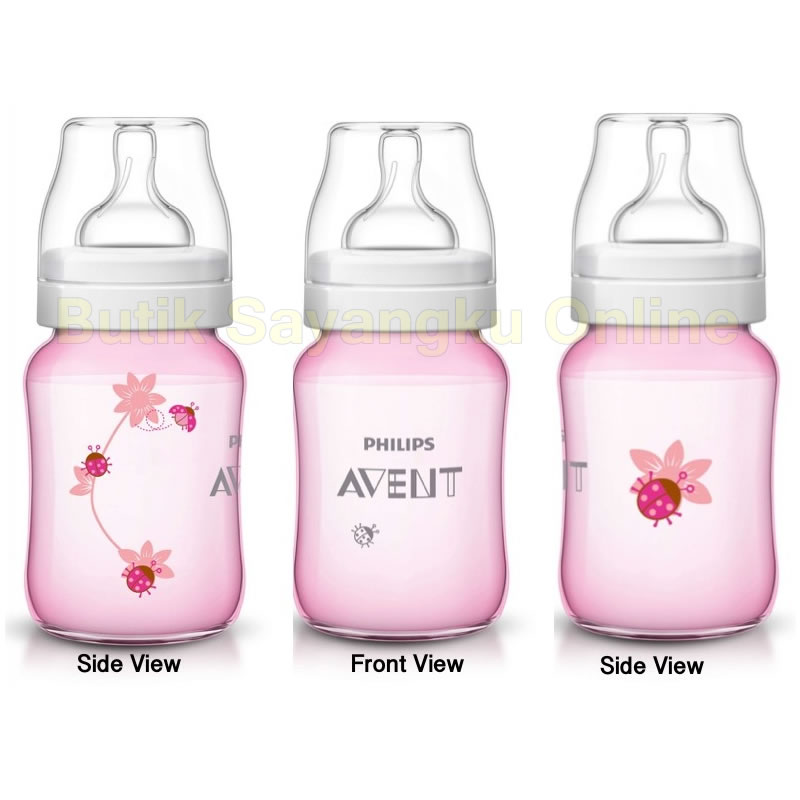 Philips Avent Special Edition Classic Plus Bottle Pink Deco Lady Bug