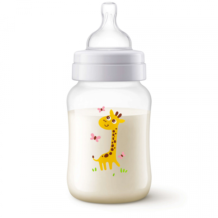 Philips Avent Classic Plus Giraffe Design Bottle 9oz /260ml Single Pack